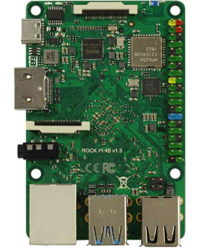 AllNet Rock Pi 4 Model B 4GB (mit Dualband 2,4/5GHz WLAN/Bluetooth 5.0)