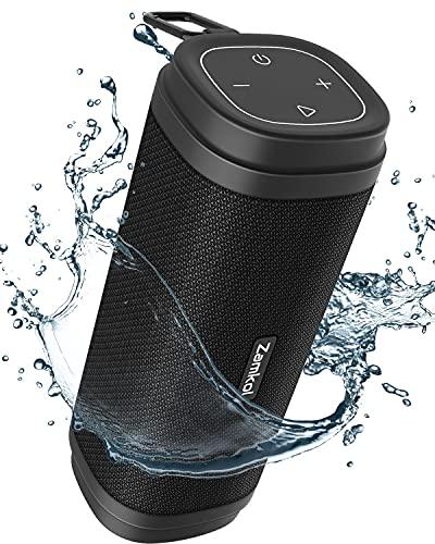 Zamkol Bluetooth Lautsprecher Musikbox Tragbarer 30W Bluetooth Box mit EQ Verbesserter Bass Kabelloser Stereoklang IPX6 Wasserdicht und Eingebautes Mikrofon