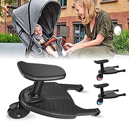 Vihir Buggy Board Trittbrett Mitfahrbrett universal passend für alle Kinderwagen geeignet für 2-5 Jahre alte Kinder, mit einer maximalen Belastung von 50 Pfund